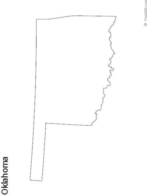 oklahoma state blank outline map   silouette