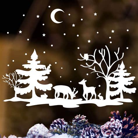 Weihnachtsdeko Fenstersticker by Fensteraufkleber Winter Wald Aufkleber F 252 R Ihr Fenster