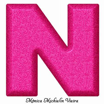 Glitter Rosa Alfabeto Alphabet Abecedario Fucsia Letras
