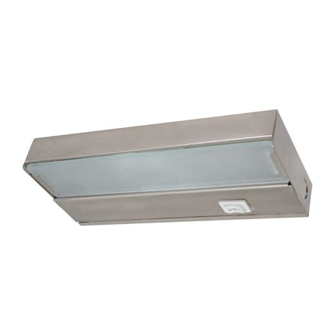 8 in xenon pewter low profile cabinet light fixture