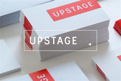 upstage identity  behance  images business card