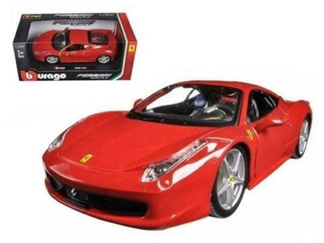 Free delivery and returns on ebay plus items for plus members. Ferrari 458 ITALIA Red 1/24 Diecast Model Car by Bburago for sale online | eBay