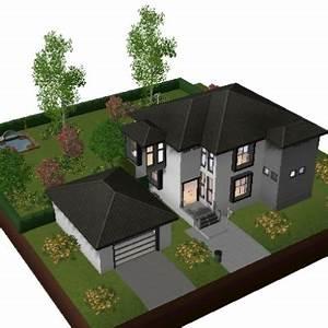 maison de luxe moderne sims 3 idees decoration With awesome plan de maison 110m2 7 maison de luxe moderne plan chaios