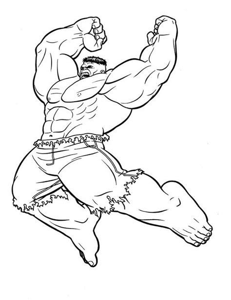 hulk jumping smash coloring page netart