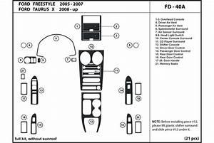 2007 Ford Freestyle Dash Kits