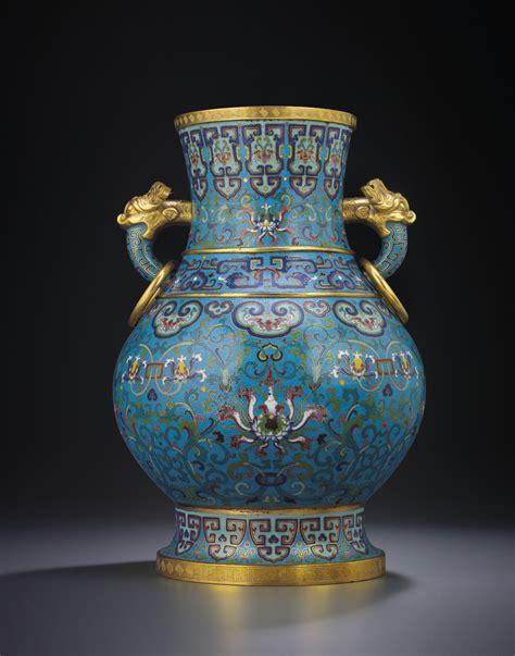 Vase S by A Large Cloisonne Enamel Lotus Vase Qianlong Period