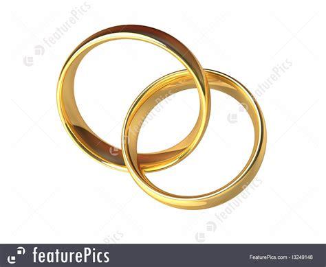 celebration gold wedding rings together stock