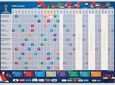 Spielplan der FußballWM 2018 in Russland als PDFDatei
