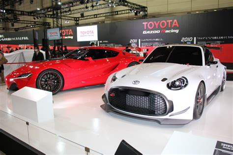 red toyota ft  concept   auto shows