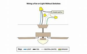 Wiring Diagrams  Ceiling Fan With Light No Switch