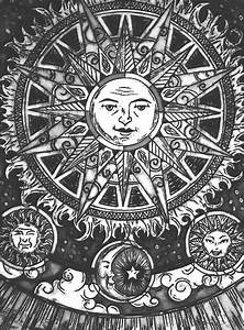 art trippy hippie boho moon psychedelic sun herperfectlife •