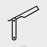 Coloring Straight Barber Razor Drawing Transparent Clipart Hiclipart sketch template