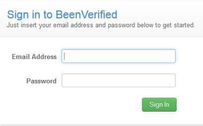 verified login   access  beenverified login