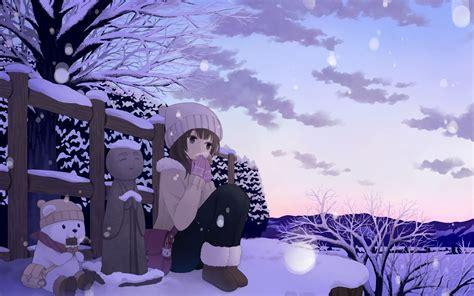 Anime Winter Wallpaper by Anime Winter Wallpaper 42573 In 2019 Winter Wallpaper