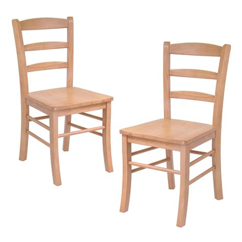 winsome hannah dining wood side chairs  light oak finish