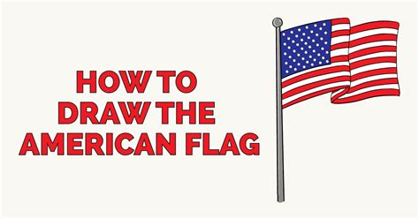 How to Draw the American Flag - Really Easy Drawing Tutoria