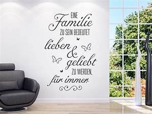 Wandtattoo Sprüche Familie : wandtattoo eine familie zu sein bedeutet klebeheld de ~ Frokenaadalensverden.com Haus und Dekorationen