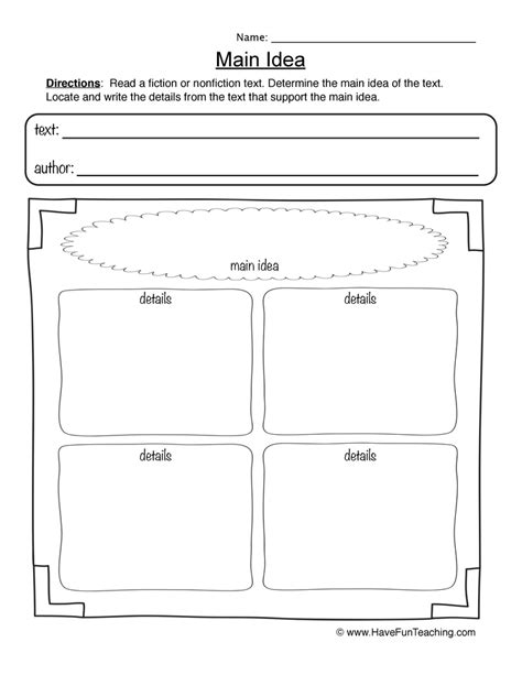 idea worksheets teaching