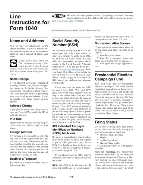 form 1040 instructions 2014 world of exle