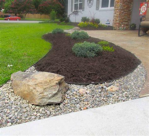 commercial white rocks  landscaping built