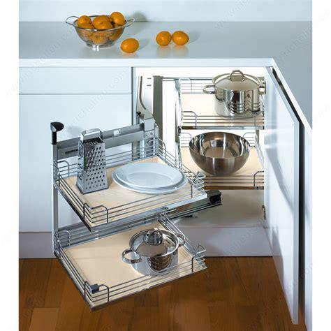 richelieu kitchen accessories magic corner ii set for a minimum opening of 444 mm 17 1 1965