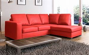 Wellington leather corner sofa suite red high quality for Red sectional sofas cheap
