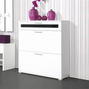 meuble a chaussures 16 paires l90xp30xh100cm primus port With porte d entrée pvc avec meuble de salle de bain profondeur 30 cm