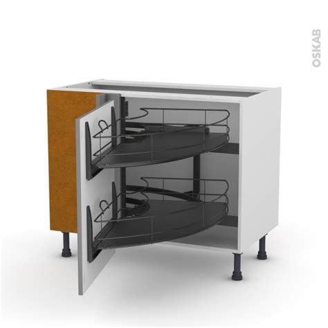 meuble bas cuisine gris meuble de cuisine angle bas filipen gris demi lune