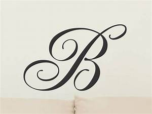 initial wall decal monogram wall decal single vinyl letter With single letter vinyl monogram