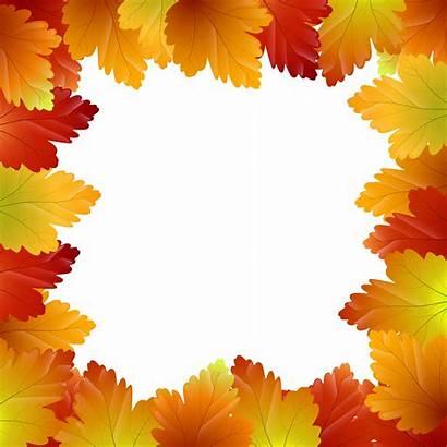 Border Autumn Leaves Clip Frame Clipart Fall