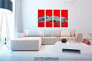 Tableau Salon Moderne : grand tableau moderne maison design ~ Farleysfitness.com Idées de Décoration