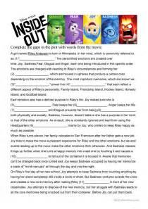 Inside Out Worksheets Printable