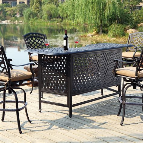 deck shade options darlee sedona 5 cast aluminum patio bar set