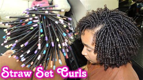 straw set  natural hair style demo
