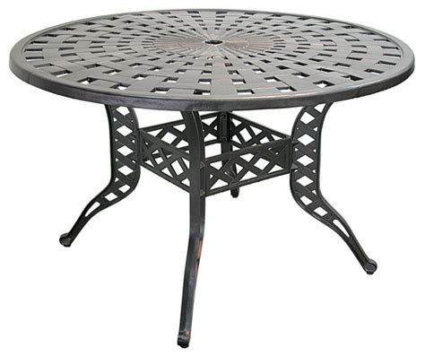 patio furniture table dining cast aluminum 48 quot sunburst