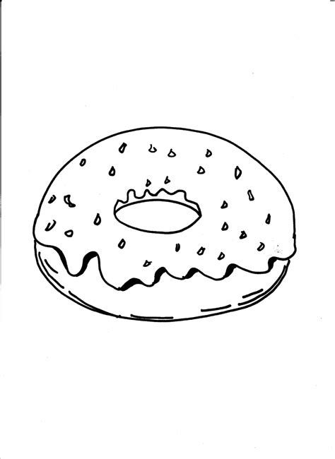 Kleurplaat Emoji Donut by Donut Coloring Pages Getcoloringpages