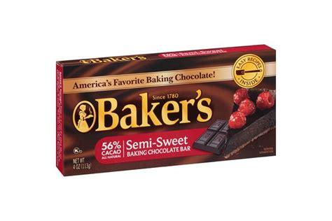 semi sweet chocolate baker s semi sweet chocolate baking squares 4 oz box kraft recipes