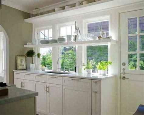 kitchen window decor ideas open kitchen shelves and stationary window decorating ideas