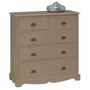 Commode Pas Cher Occasion : commode taupe 5 tiroirs charme beaux meubles pas chers ~ Teatrodelosmanantiales.com Idées de Décoration
