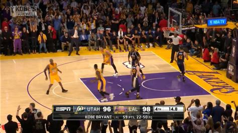 kobe bryants  seconds   nba  final