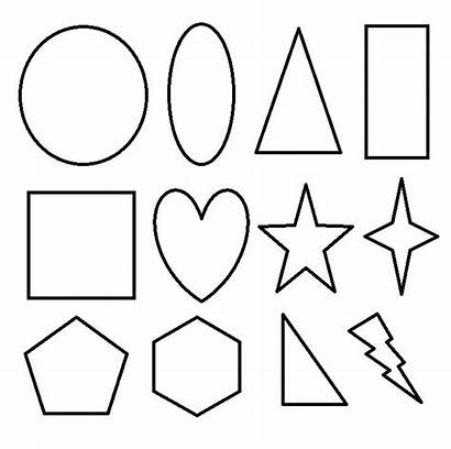 Coloring Shapes Pages Printable Geometric 2d Basic