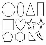 Coloring Shapes Pages Printable Geometric Basic Shape 2d Toddlers Preschoolers Clipart Different Templates Circle Revolutionary War Cut Preschool Activity Childrens sketch template