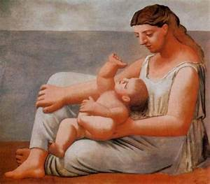 Pablo Picasso: Woman And Child By The Sea - 1921