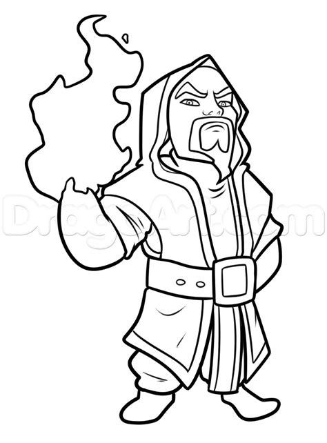 draw wizard  clash  clans step  step