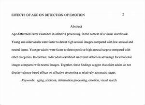 Apa format abstract page mlaformatorg for Apa abstract page template