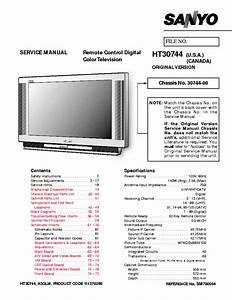Sanyo Tv Ht30744 Sm780094 Service Manual Download