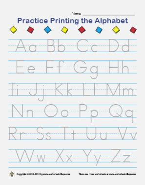 nifty printable alphabet writing practice sheets