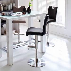 Barhocker Mit Tisch : h henverstellbarer barhocker vucotto in schwarz ~ Watch28wear.com Haus und Dekorationen