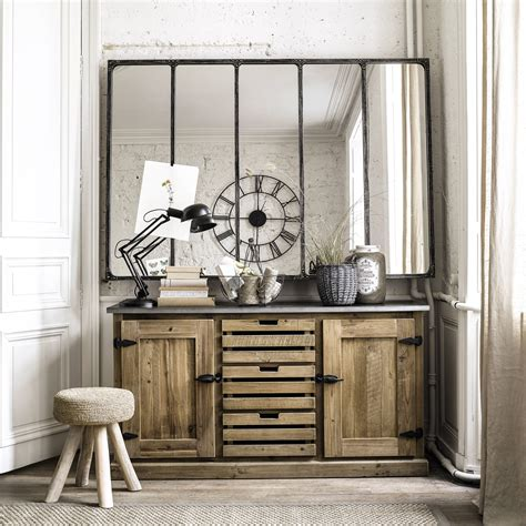 miroir indus en m 233 tal l 180 cm cargo verri 200 re maisons du monde for the home salons