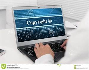 Blank Business Card Stock Laptop Computer With Copyright Message Royalty Free Stock